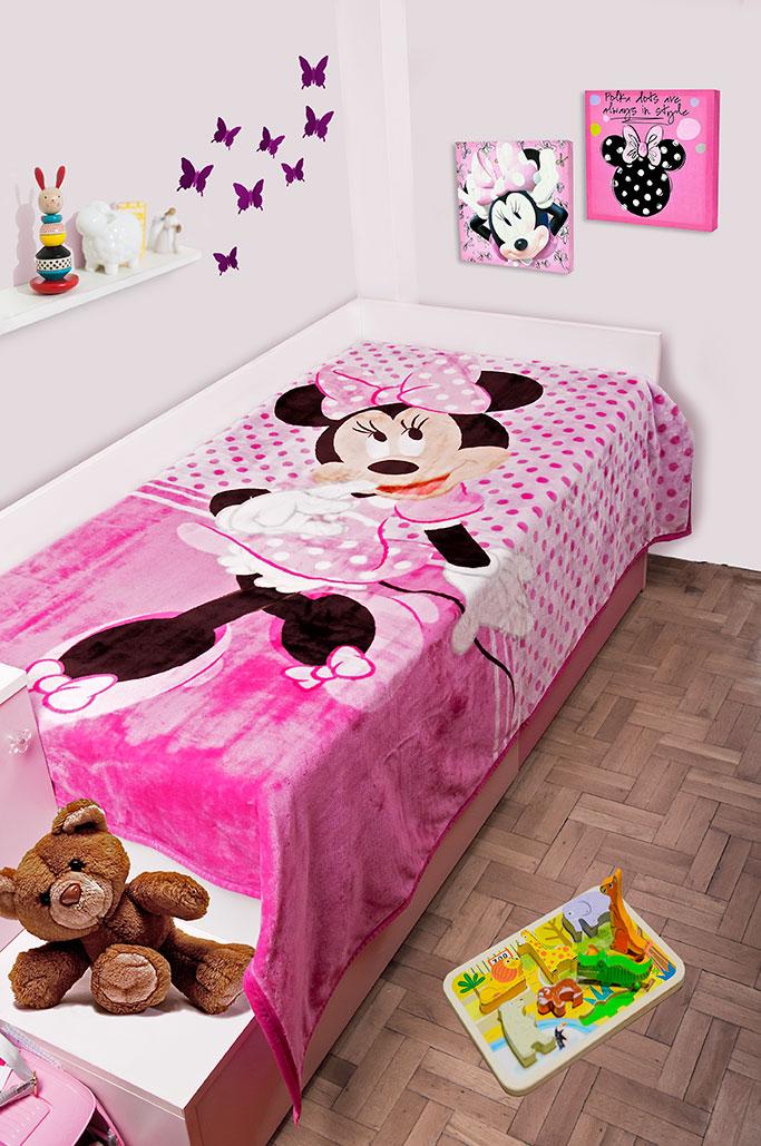 Παιδική Κουβέρτα Βελουτέ Disney 160×220 MINNIE 551 Digital Print