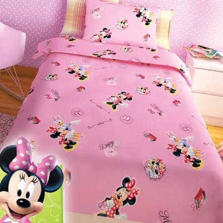 Σεντόνια Μονά (Σετ) Disney Minnie Pink