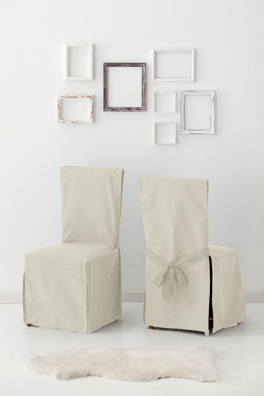 Σετ (2 Τμχ) Σταθερά Καλύμματα Καρέκλας Με Δέστρες Aigaio-Ιβουάρ-10+ Χρώματα Διαθέσιμα-Καλύμματα Σαλονιού