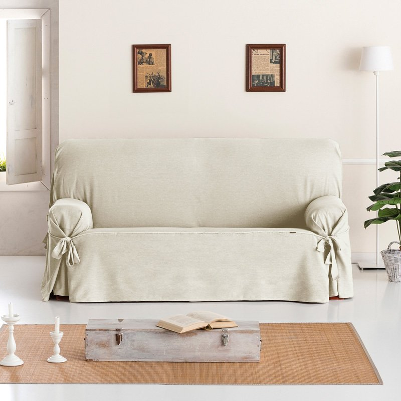 Σταθερά Καλύμματα Καναπέ Με Δέστρες Aigaio – Ιβουάρ – Διθέσιος-10+ Χρώματα Διαθέσιμα-Καλύμματα Σαλονιού