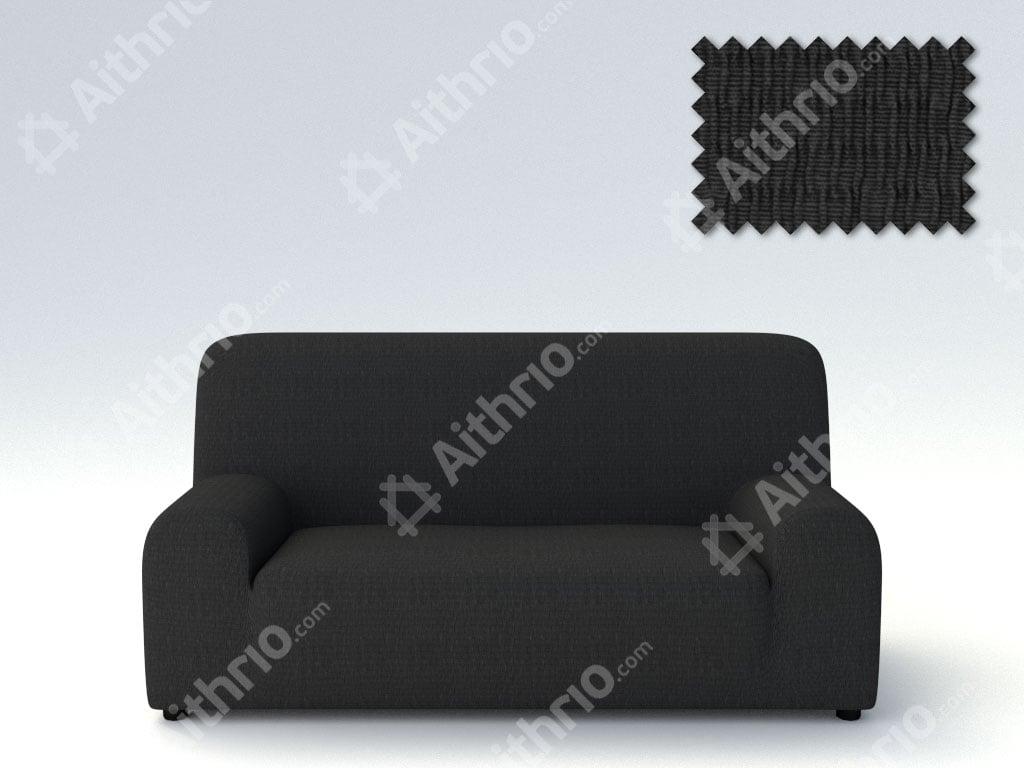 Ελαστικά Καλύμματα Προσαρμογής Σχήματος Καναπέ Peru-Μαύρο-Τετραθέσιος-10+ Χρώματα Διαθέσιμα-Καλύμματα Σαλονιού