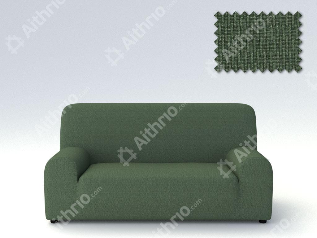 Ελαστικά Καλύμματα Προσαρμογής Σχήματος Καναπέ Peru-Πράσινο-Τετραθέσιος-10+ Χρώματα Διαθέσιμα-Καλύμματα Σαλονιού