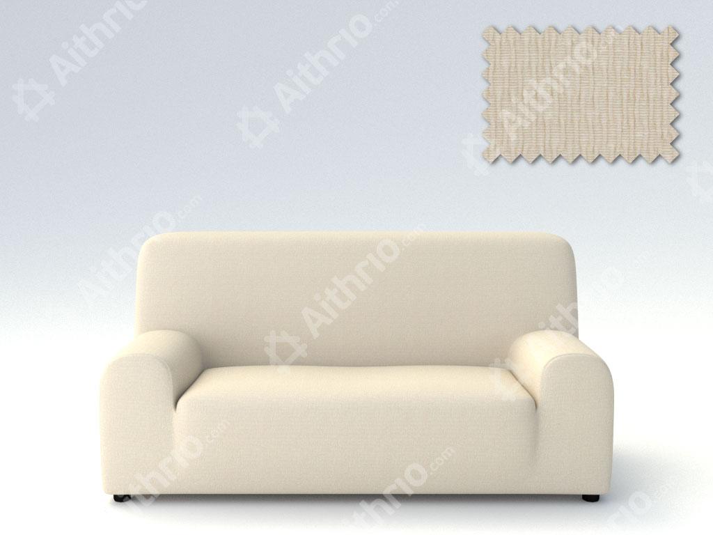 Ελαστικά Καλύμματα Προσαρμογής Σχήματος Καναπέ Peru-Ιβουάρ-Τριθέσιος-10+ Χρώματα Διαθέσιμα-Καλύμματα Σαλονιού