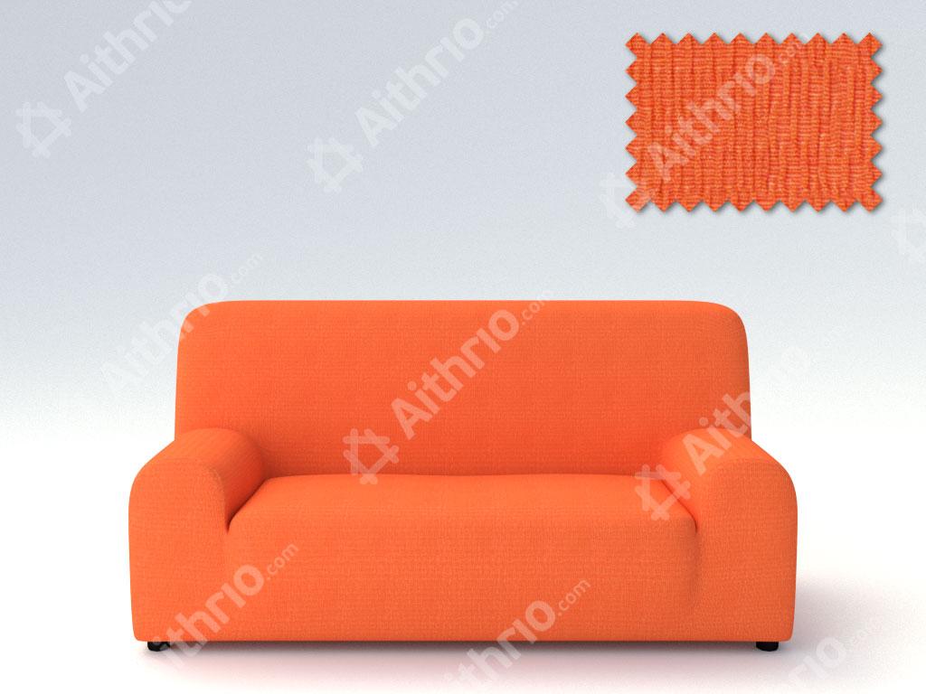 Ελαστικά Καλύμματα Προσαρμογής Σχήματος Καναπέ Peru-Πορτοκαλί-Τριθέσιος-10+ Χρώματα Διαθέσιμα-Καλύμματα Σαλονιού