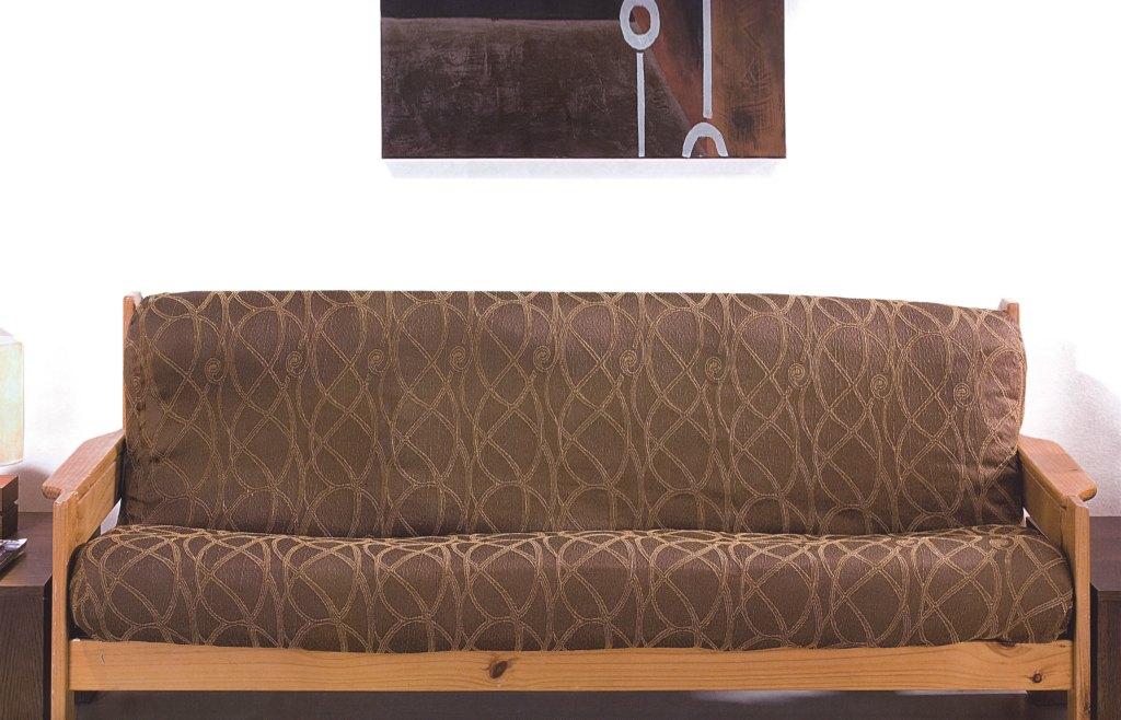 Ελαστικά καλύμματα καναπέ με ξύλινα μπράτσα Picaso-Τριθέσιος-Καφέ-10+ Χρώματα Δι καλύμματα επίπλων καλύμματα καναπέ σαλονιού   πολυθρόνας