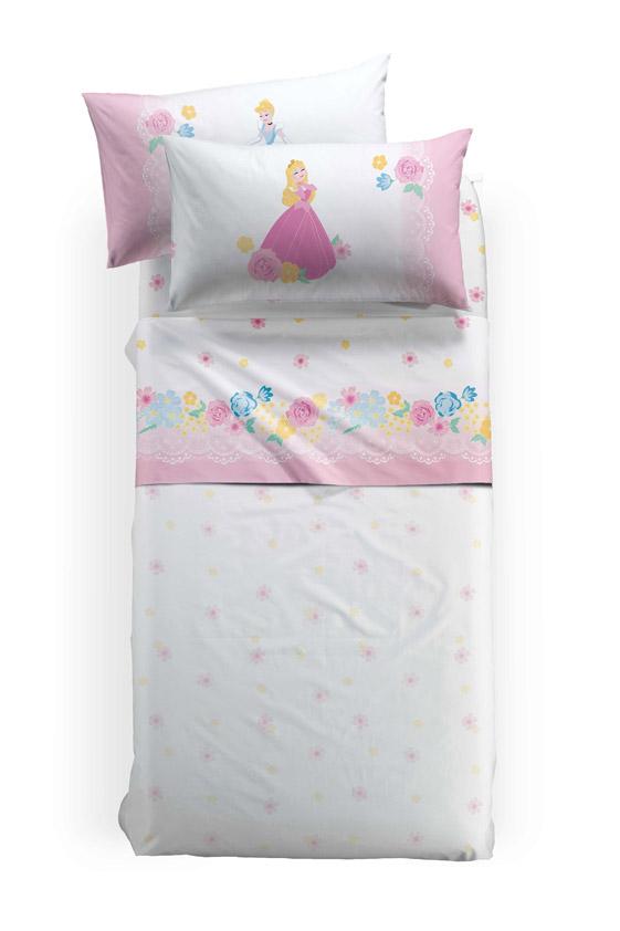 Σεντόνια Μονά (Σετ) 160×270 Palamaiki Disney Princess Romance Με Λάστιχο