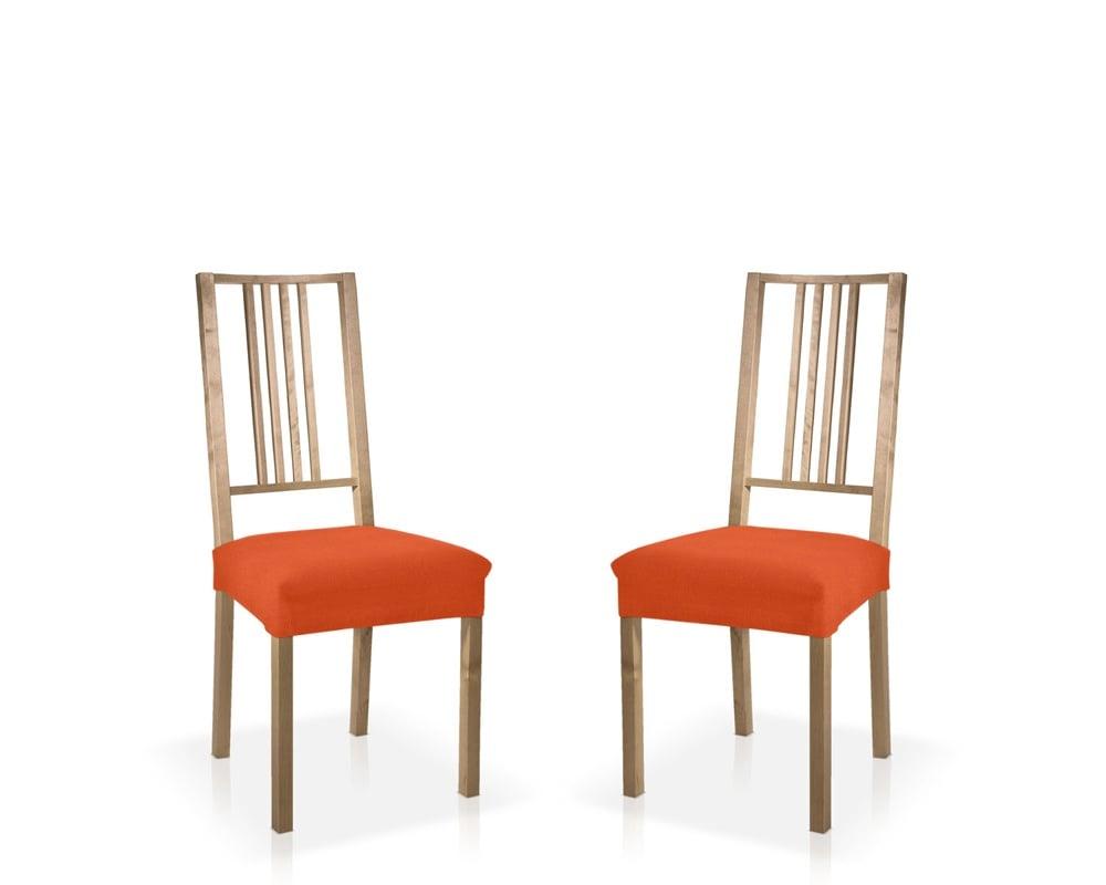 Σετ (2 Τμχ) Ελαστικά Καλύμματα-Καπάκια Καρεκλών Peru-Πορτοκαλί καλύμματα επίπλων καλύμματα καρέκλας