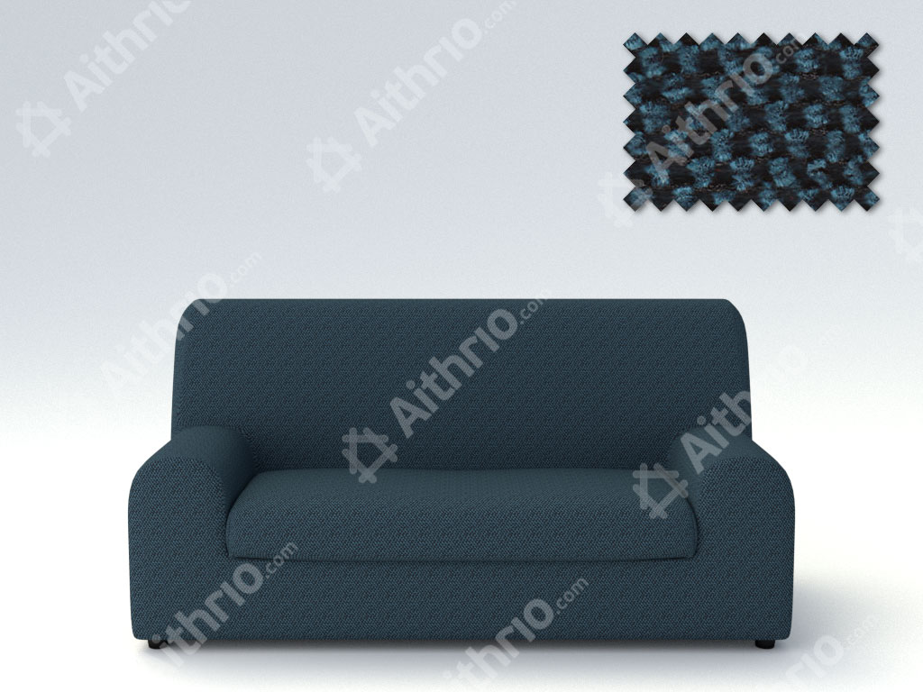 Ελαστικά καλύμματα καναπέ Ξεχωριστό Μαξιλάρι Bielastic Viena-Τριθέσιος-Μπλε-10+ Χρώματα Διαθέσιμα-Καλύμματα Σαλονιού