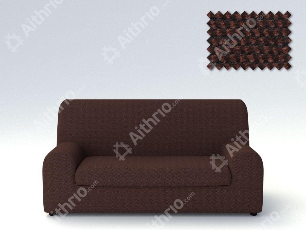 Ελαστικά καλύμματα καναπέ Ξεχωριστό Μαξιλάρι Bielastic Viena-Τριθέσιος-Καφέ-10+ Χρώματα Διαθέσιμα-Καλύμματα Σαλονιού