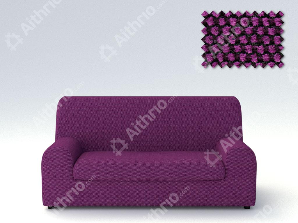 Ελαστικά καλύμματα καναπέ Ξεχωριστό Μαξιλάρι Bielastic Viena-Τριθέσιος-Μωβ-10+ Χρώματα Διαθέσιμα-Καλύμματα Σαλονιού