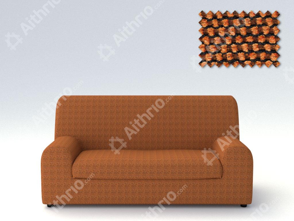 Ελαστικά καλύμματα καναπέ Ξεχωριστό Μαξιλάρι Bielastic Viena-Τριθέσιος-Πορτοκαλί-10+ Χρώματα Διαθέσιμα-Καλύμματα Σαλονιού