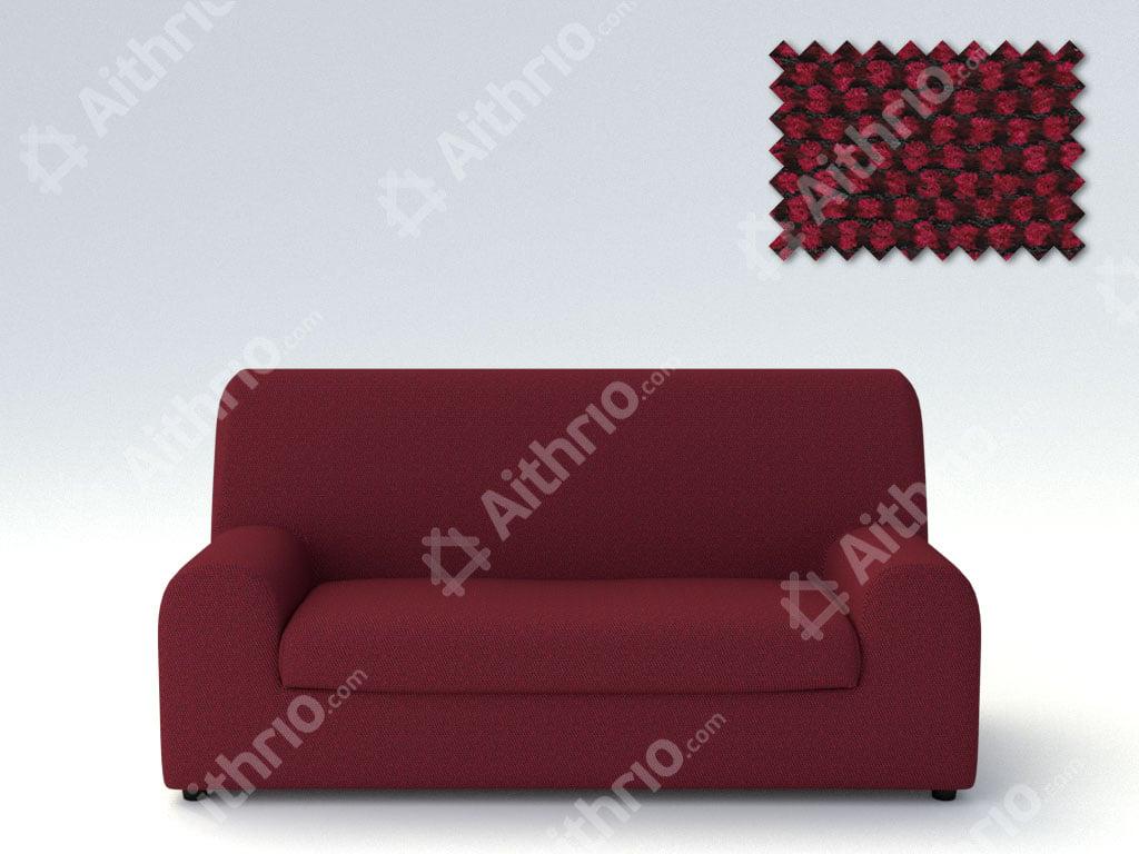 Ελαστικά καλύμματα καναπέ Ξεχωριστό Μαξιλάρι Bielastic Viena-Τετραθέσιος-Μπορντώ-10+ Χρώματα Διαθέσιμα-Καλύμματα Σαλονιού