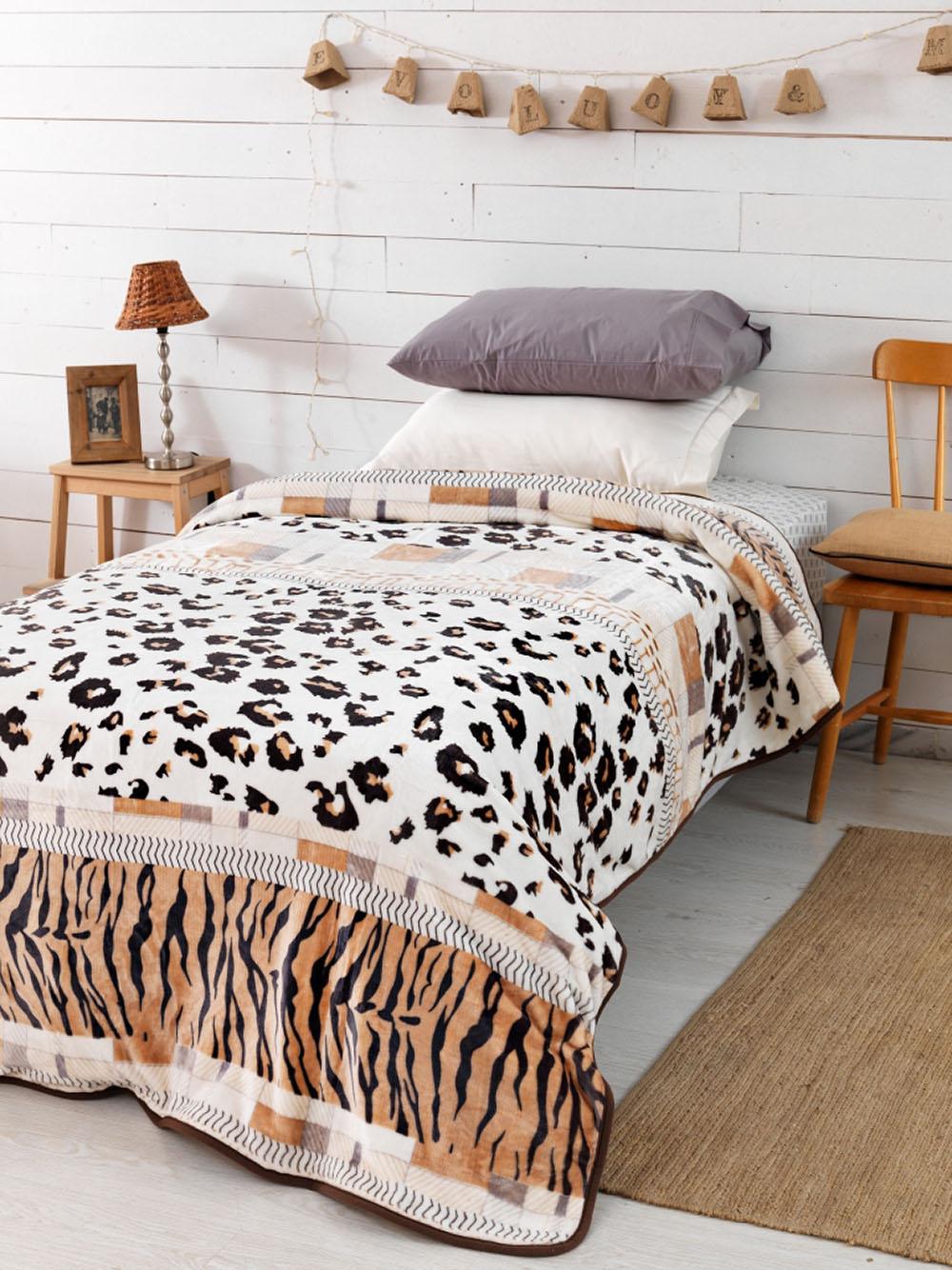 Κουβέρτα Fleece Υπέρδιπλη 220×240 SY-250 Palamaiki Silky Collection