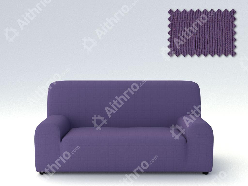 Ελαστικά καλύμματα καναπέ Tania-Τριθέσιος-Μωβ-10+ Χρώματα Διαθέσιμα-Καλύμματα Σαλονιού