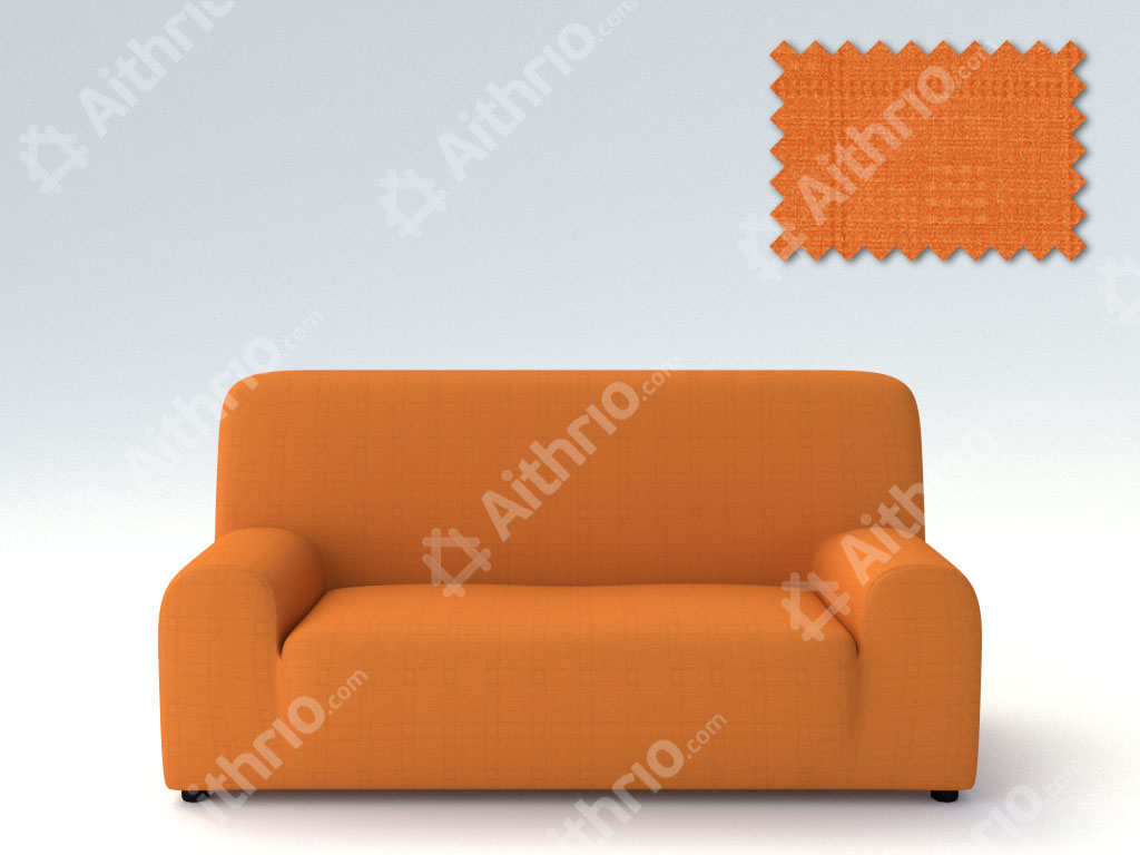 Ελαστικά καλύμματα καναπέ Tania-Τετραθέσιος-Πορτοκαλί-10+ Χρώματα Διαθέσιμα-Καλύμματα Σαλονιού