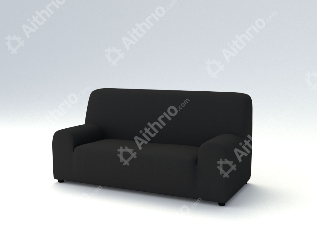 Ελαστικά καλύμματα καναπέ Tania-Τριθέσιος-Μαύρο-10+ Χρώματα Διαθέσιμα-Καλύμματα Σαλονιού