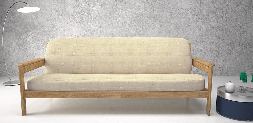 Ελαστικά καλύμματα καναπέ με ξύλινα μπράτσα Tania-Τριθέσιος-Εκρου-10+ Χρώματα Δι καλύμματα επίπλων καλύμματα καναπέ σαλονιού   πολυθρόνας