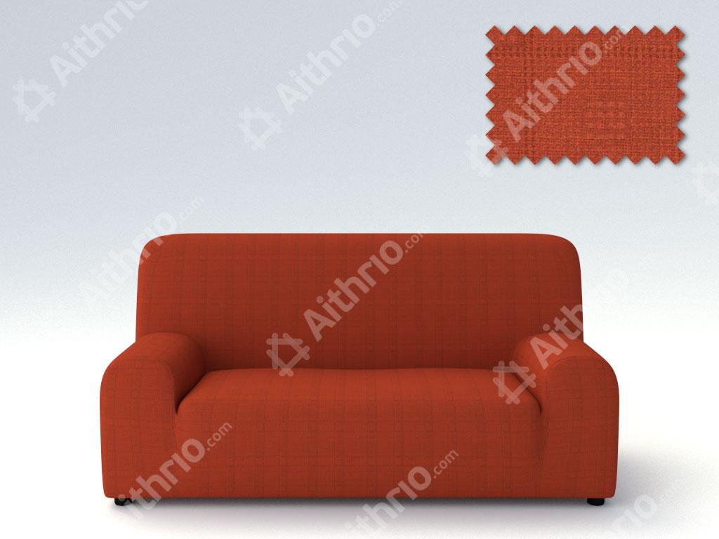 Ελαστικά καλύμματα καναπέ Tania-Τριθέσιος-Κεραμιδί-10+ Χρώματα Διαθέσιμα-Καλύμματα Σαλονιού