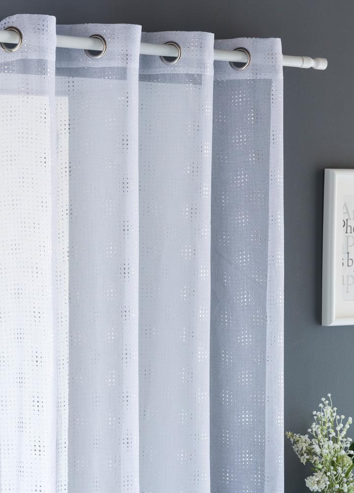 Κουρτίνα Με Τρουκς 140X260 Tailor Λευκό