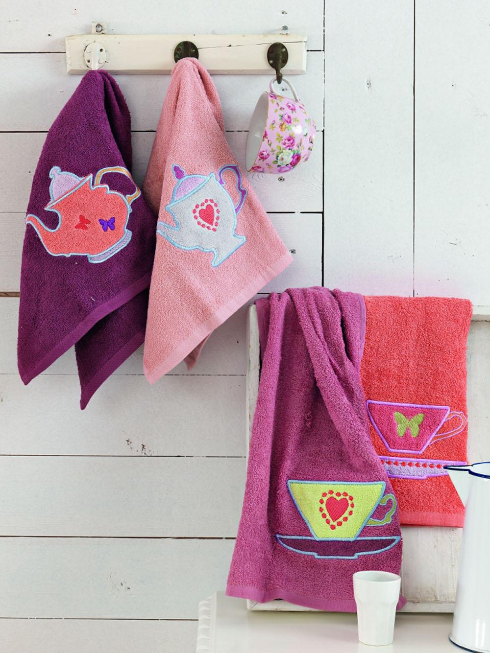Πετσέτες Κουζίνας (Σετ 4 Τμχ) 40×60 Teapots Palamaiki Kitchen Towels