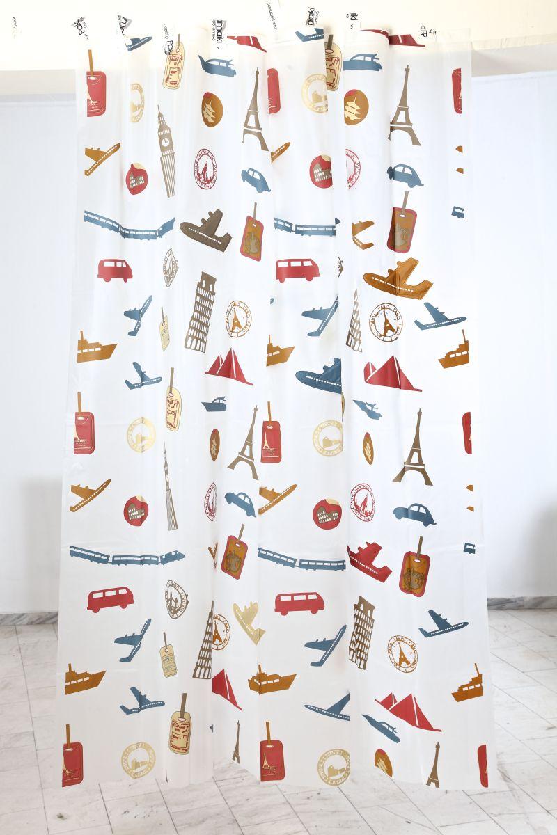 Κουρτίνα Μπάνιου 180x200 Travel Palamaiki Shower Curtain λευκά είδη μπάνιο κουρτίνες μπάνιου