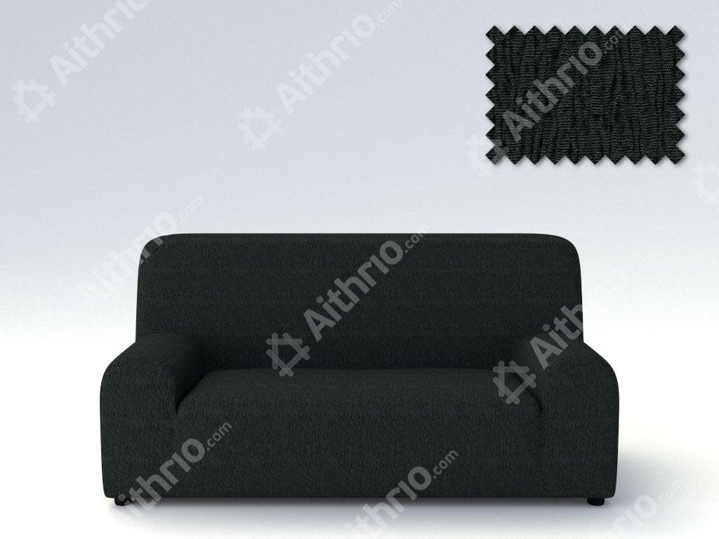 Ελαστικά καλύμματα καναπέ Valencia-Τετραθέσιος-Μαύρο-10+ Χρώματα Διαθέσιμα-Καλύμματα Σαλονιού