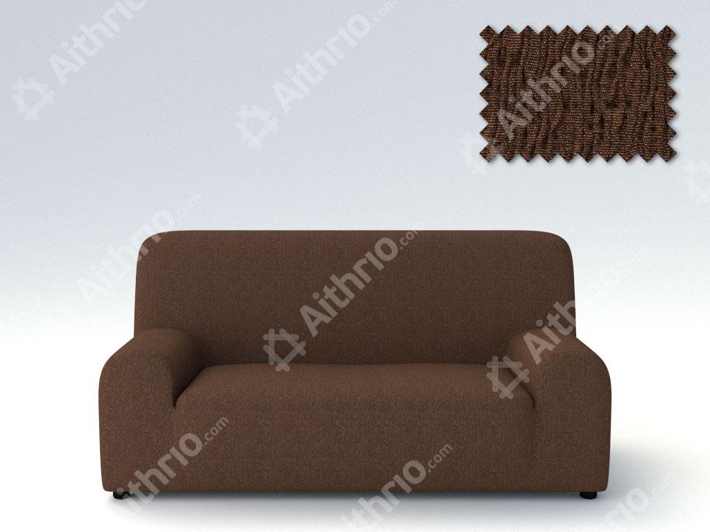 Ελαστικά καλύμματα καναπέ Valencia-Τετραθέσιος-Καφέ-10+ Χρώματα Διαθέσιμα-Καλύμματα Σαλονιού