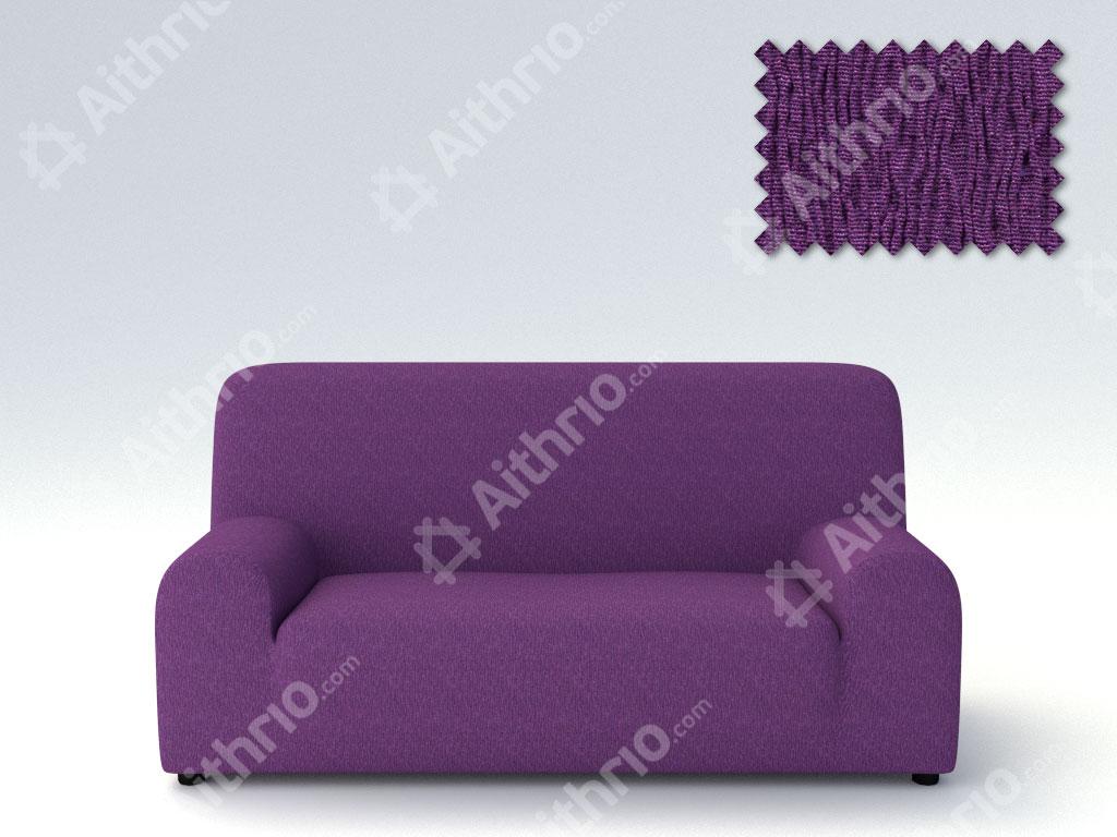 Ελαστικά καλύμματα καναπέ Valencia-Τριθέσιος-Μωβ