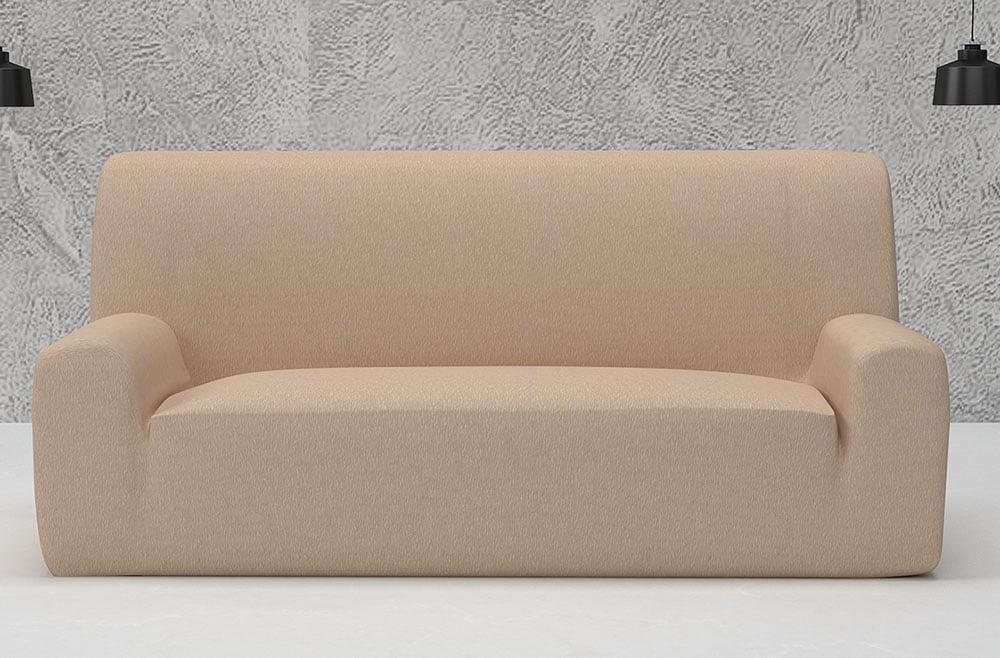 Ελαστικά καλύμματα καναπέ Valencia-Τριθέσιος-Ιβουάρ-10+ Χρώματα Διαθέσιμα-Καλύμματα Σαλονιού