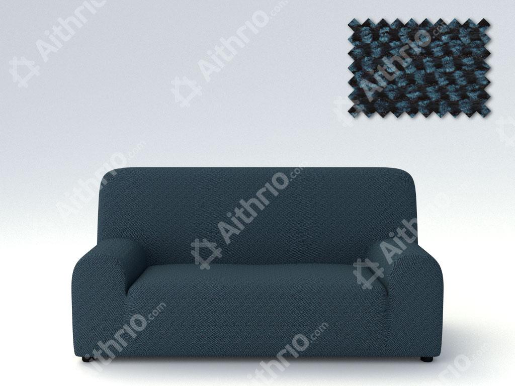Ελαστικά Καλύμματα Προσαρμογής Σχήματος Καναπέ Viena – C/4 Μπλε – Τριθέσιος-10+ Χρώματα Διαθέσιμα-Καλύμματα Σαλονιού