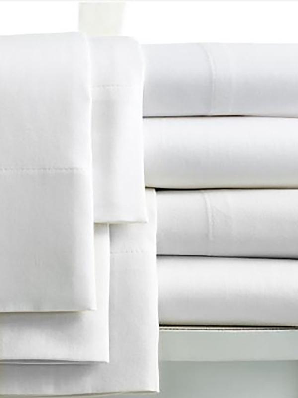 Σεντόνι 160x270 - 100% Βαμβακερό Περκάλι 160tc ξενοδοχειακά λευκά είδη