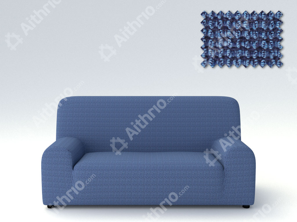 Ελαστικά καλύμματα καναπέ Zafiro-Τετραθέσιος-Μπλε-10+ Χρώματα Διαθέσιμα-Καλύμματ καλύμματα επίπλων καλύμματα καναπέ σαλονιού   πολυθρόνας