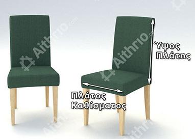Μέτρηση καρέκλας για καλύμματα με πλάτη